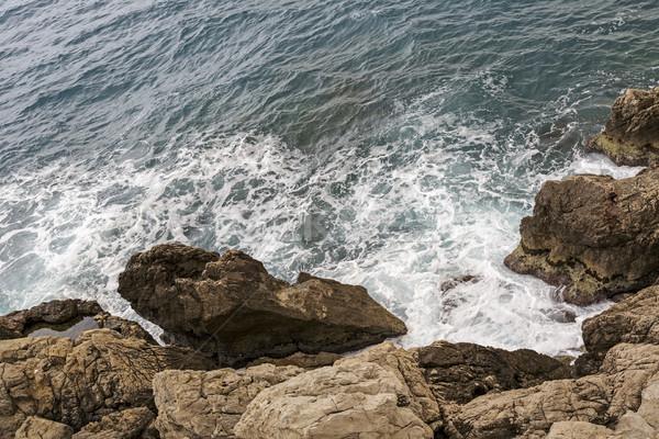Uçurum deniz sahil güzel seyahat Stok fotoğraf © marekusz