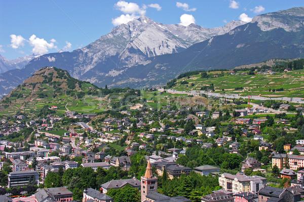 sion city capital of the canton of valais Stock photo © marekusz