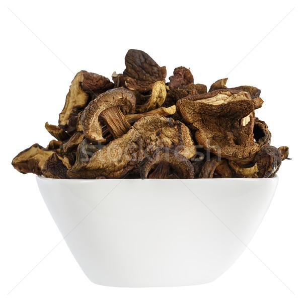 Sauvage séché champignons blanche plat up Photo stock © marekusz