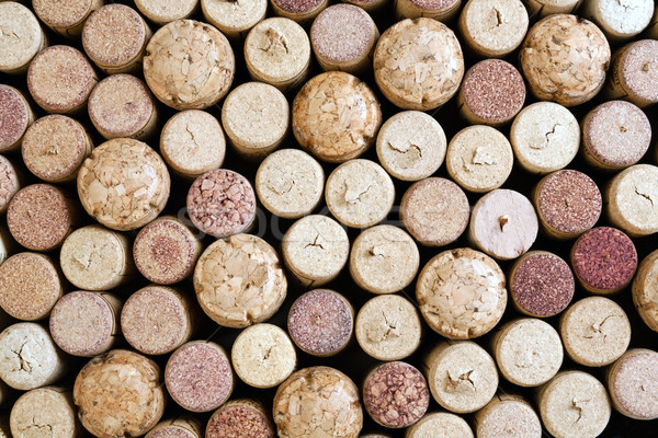 Stock photo: background of wine corks