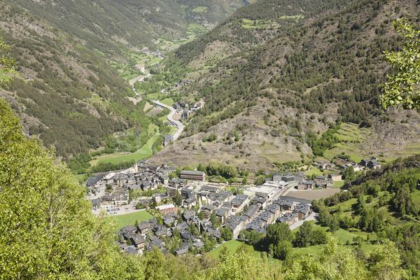 Faible village vue distance arbre nature Photo stock © marekusz