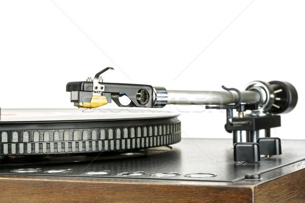 Phonograph cartridge, mounted to the tonearm Stock photo © marekusz