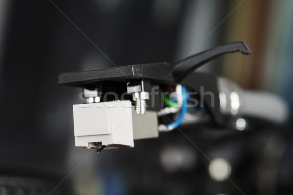 Cartouche modernes Turntable analogique technologie sonores Photo stock © marekusz
