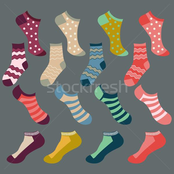 異なる 靴下 実例 ベクトル ファッション セット ストックフォト © Margolana