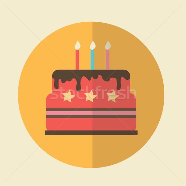 Emoji Birthday Cake With Candles