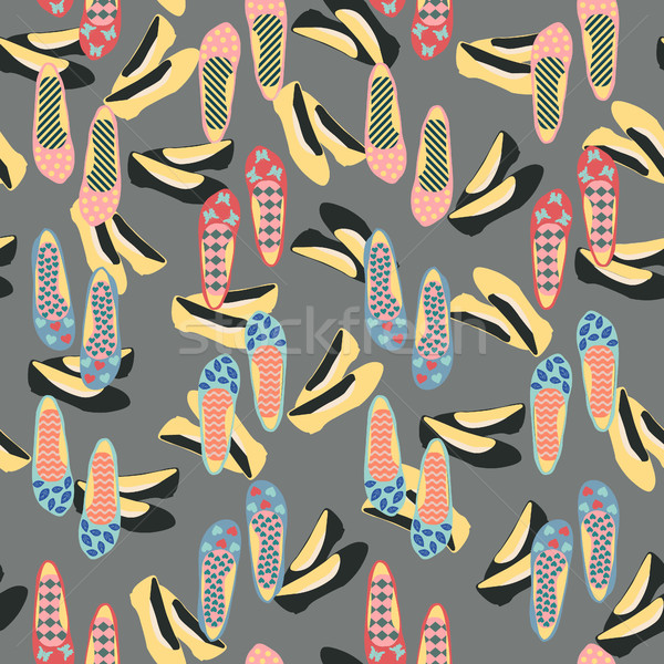 パターン ファッション ヴィンテージ 靴 ベクトル 美しい ストックフォト © Margolana