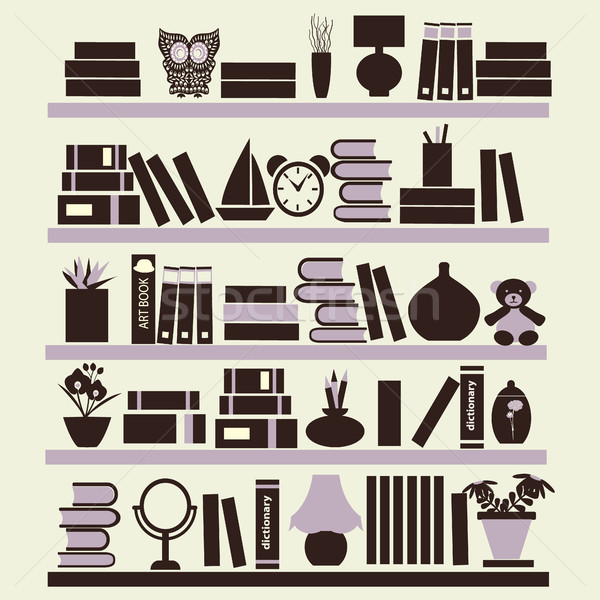 Background of  books on the Bookshelves Stock photo © Margolana