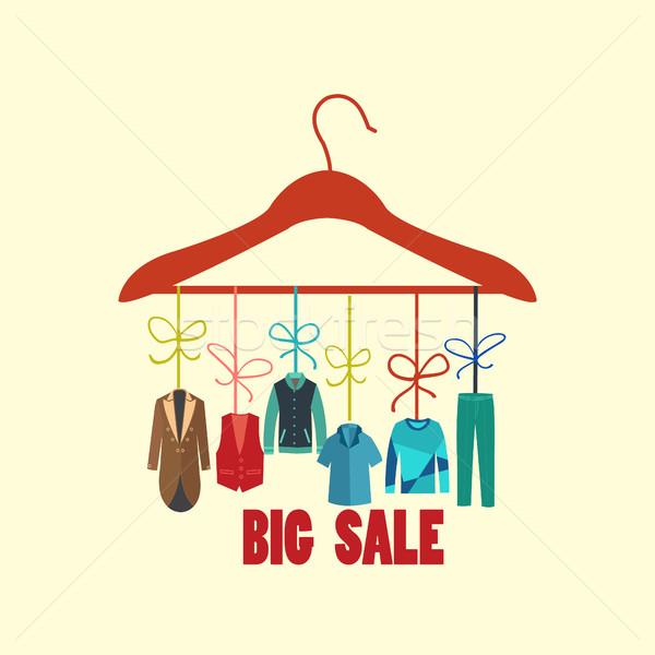Büyük satış toplama adam dolap örnek Stok fotoğraf © Margolana