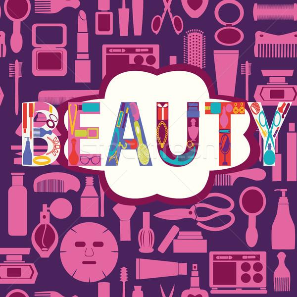 化粧 化粧品 美 シルエット セット アイコン ストックフォト © Margolana