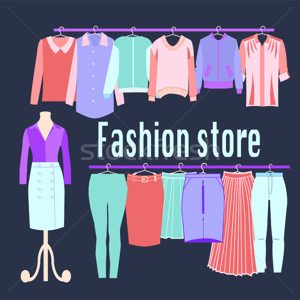 Boutique Fashion Clothing store background. Stock photo © Margolana