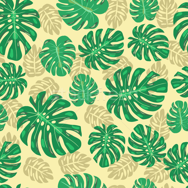 seamless pattern with monstera leaves Stock photo © Margolana