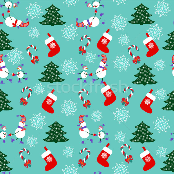 Noël cute modèle vacances flocon de neige Photo stock © Margolana
