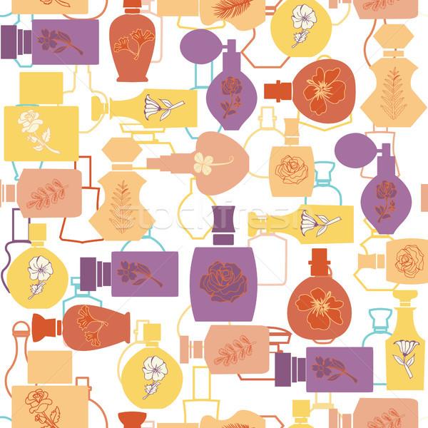 Tekstury perfum kosmetycznych butelki kolekcja kosmetyki Zdjęcia stock © Margolana
