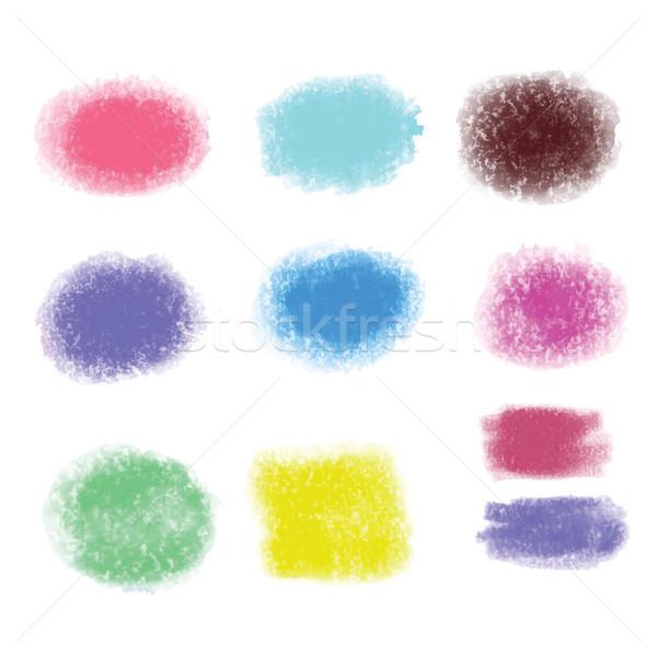 Grunge szczotki tekstury środowisk zestaw farby Zdjęcia stock © Margolana