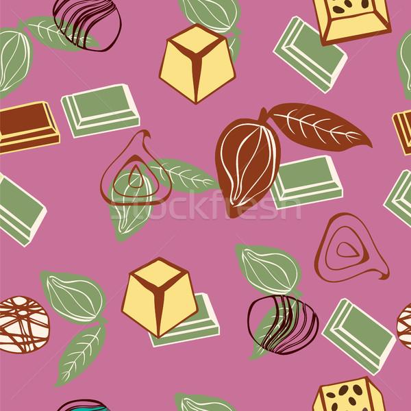 Cacau vetor rabisco chocolate Foto stock © Margolana