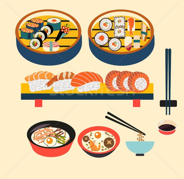 Vector food- Japanese food  Stock photo © Margolana