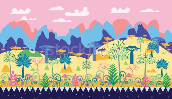 красивой магия лес сцена иллюстрация фантазий Сток-фото © Margolana