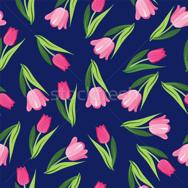 Vettore romantica tulipani vintage Foto d'archivio © Margolana