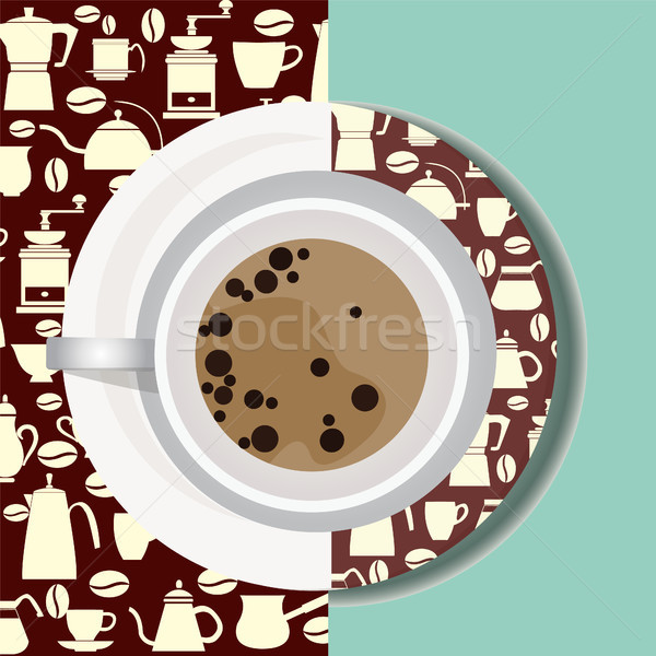 Cup with hot drink flat icon.  Stock photo © Margolana