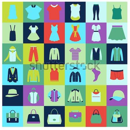 男性 女性 服 ベクトルのアイコン セット ストックフォト © Margolana