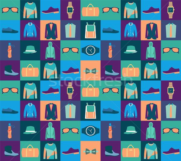 Modèle mode vêtements vecteur design Photo stock © Margolana