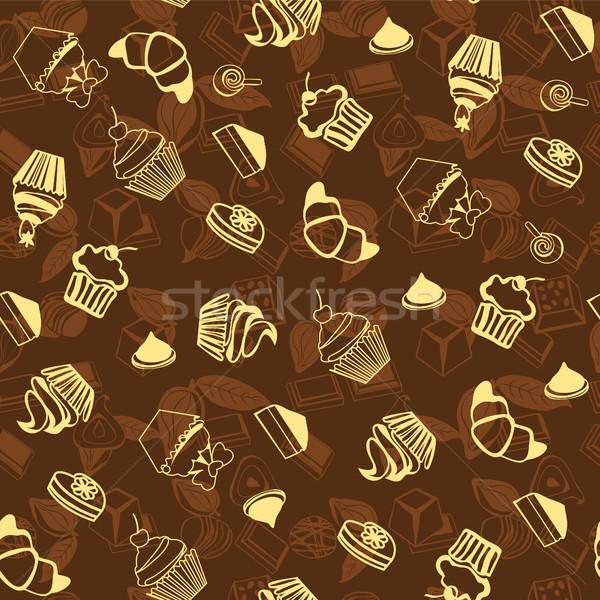 Słodycze piekarni wzór cookie deser Zdjęcia stock © Margolana