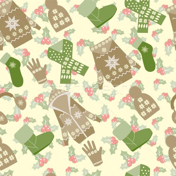Winter kleding bessen patroon collectie Stockfoto © Margolana