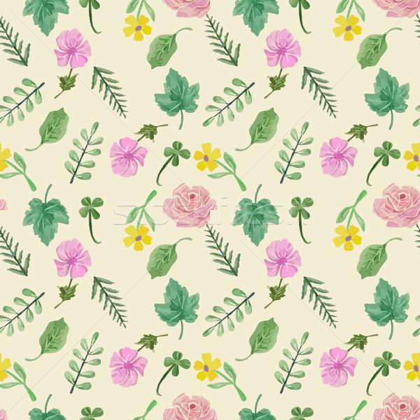 Stok fotoğraf: Renkli · toplama · yaprakları · çiçekler
