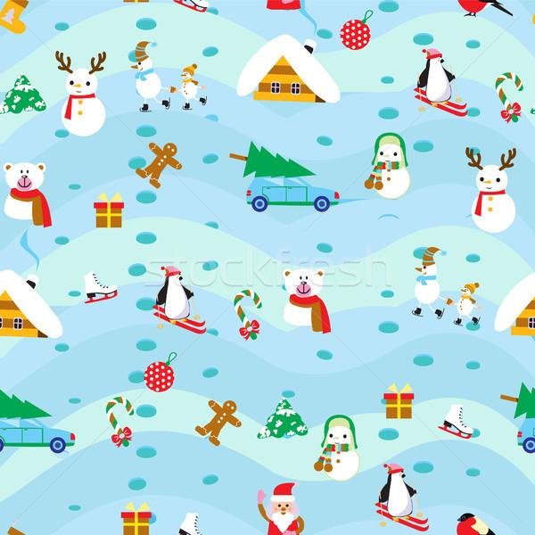 Navidad elementos vintage textiles regalo Foto stock © Margolana