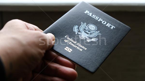 Сток-фото: стороны · паспорта · Соединенные · Штаты · бизнесмен