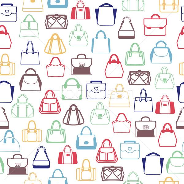 パターン ファッション 袋 女性 男性 ベクトル ストックフォト © Margolana