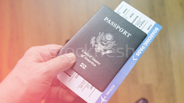 стороны паспорта Соединенные Штаты посадка Сток-фото © Margolana