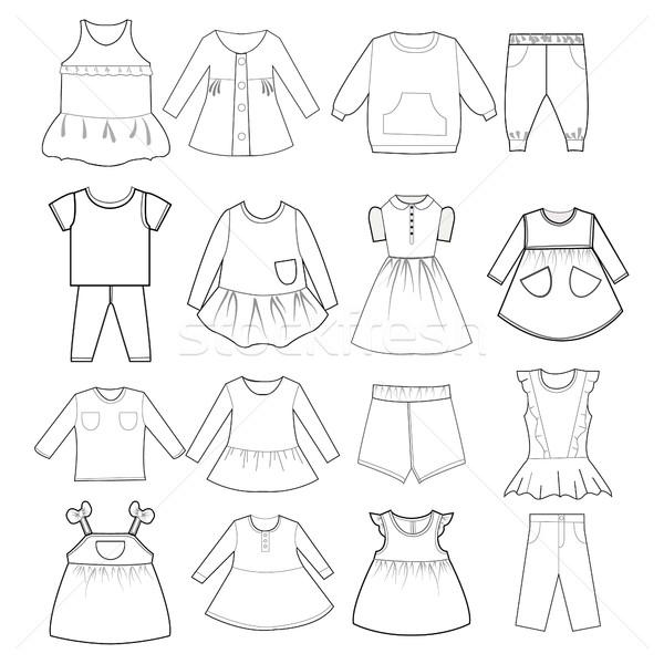 младенцы моде коллекция вектора ребенка детей Сток-фото © Margolana