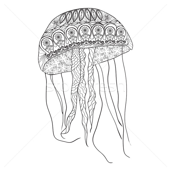 jellyfish with zentangle pattern. Stock photo © Margolana