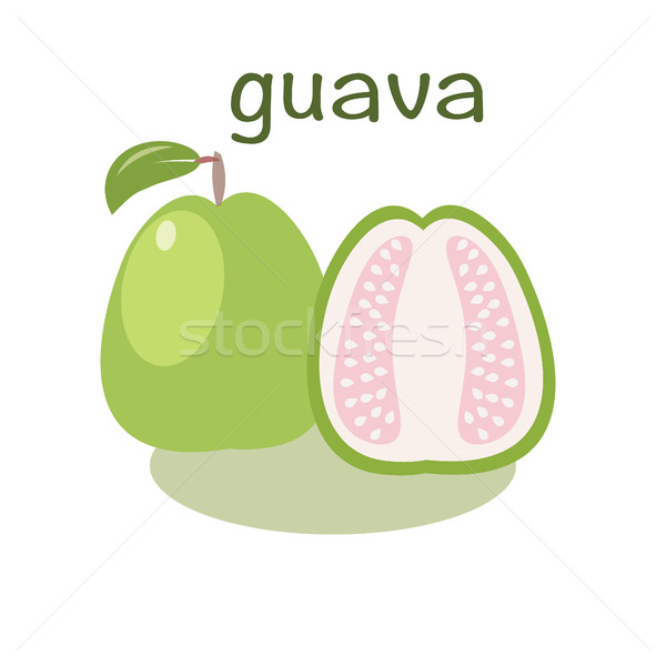 Guava icon in flat style. Isolated object. Guava exotic fruit. Stock photo © Margolana
