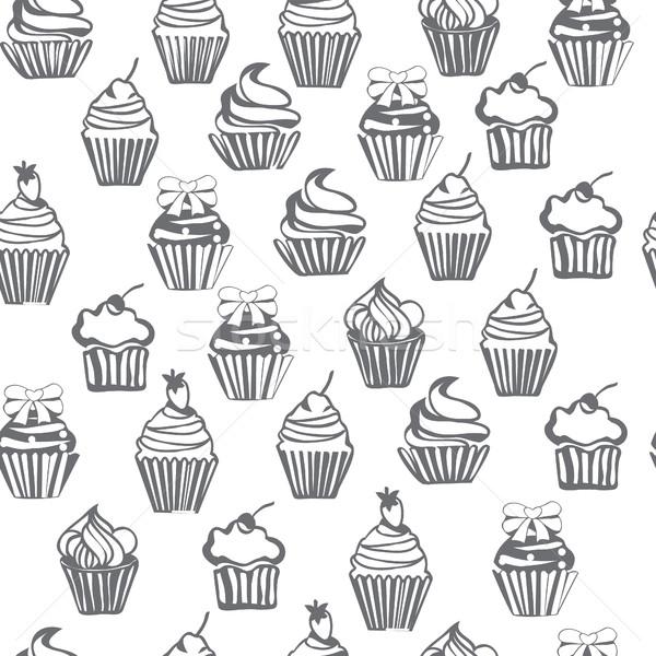 かわいい 手描き テクスチャ 食品 ストックフォト © Margolana