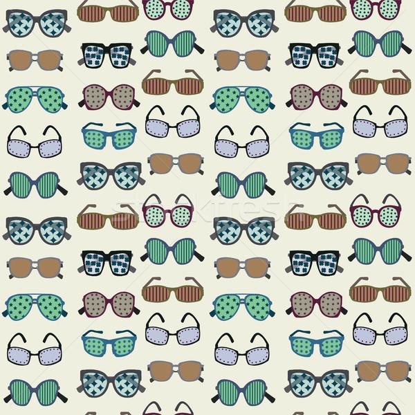 Moda óculos de sol vetor silhuetas variedade Foto stock © Margolana
