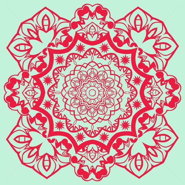 Vector mandala for coloring page. Stock photo © Margolana