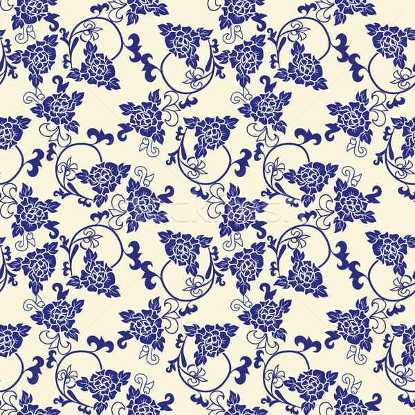Vector patroon imitatie chinese porselein schilderij Stockfoto © Margolana