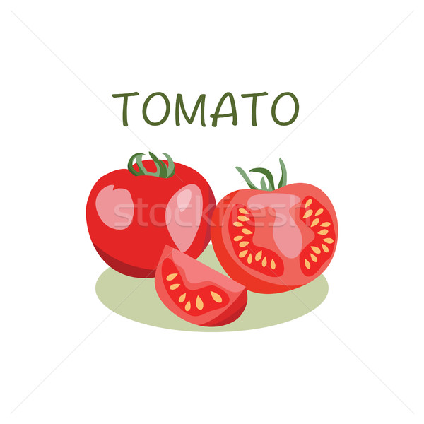 Tomato icon in flat style Isolated object.  Stock photo © Margolana