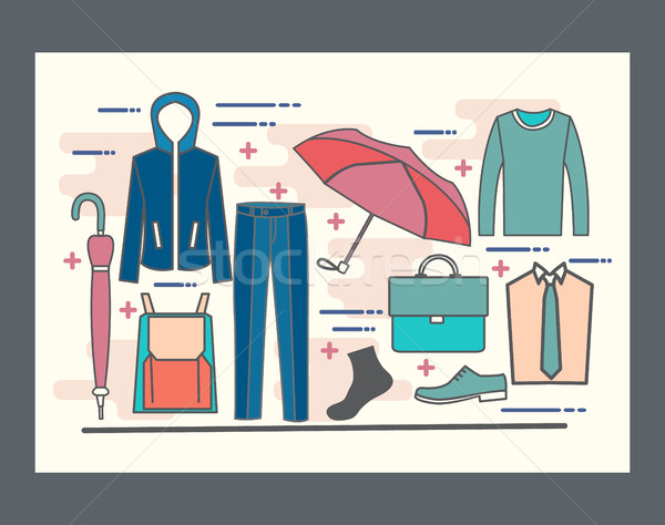 Ligne design homme armoire Photo stock © Margolana