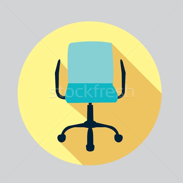 вектора дизайна икона Председатель офисные кресла долго Сток-фото © Margolana