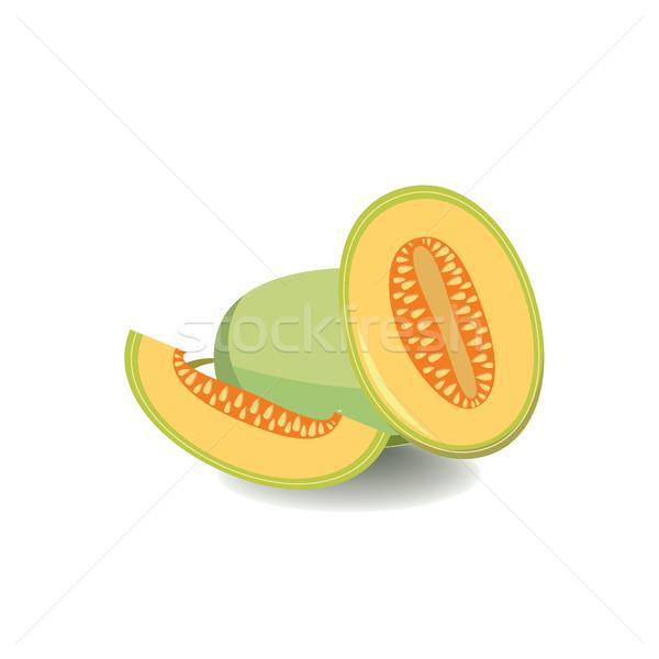Vector melón aislado estilo alimentos saludables frutas Foto stock © Margolana