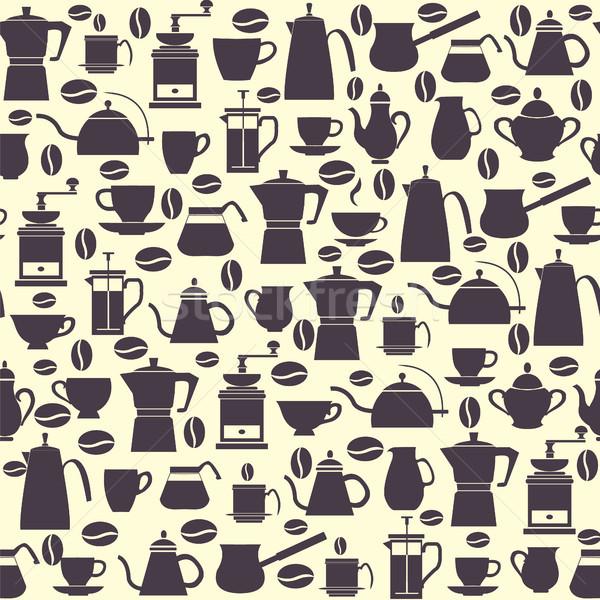 Coleção ícones café moinho Foto stock © Margolana