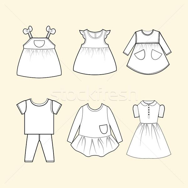 Bebek elbise toplama örnek vektör çocuklar Stok fotoğraf © Margolana