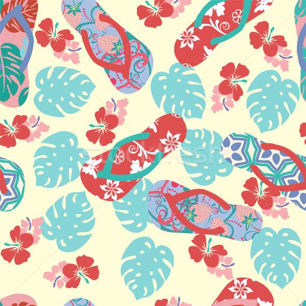 夏 花 ハイビスカス 抽象的な ベクトル ストックフォト © Margolana