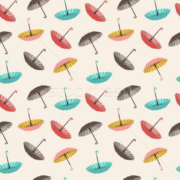Raccolta diverso moda ombrelli vettore stile Foto d'archivio © Margolana