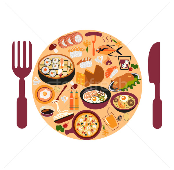 Asian food set Stock photo © Margolana