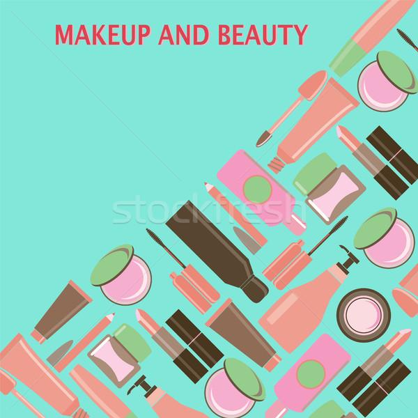 Make-up beleza símbolos cosméticos moda objetos Foto stock © Margolana