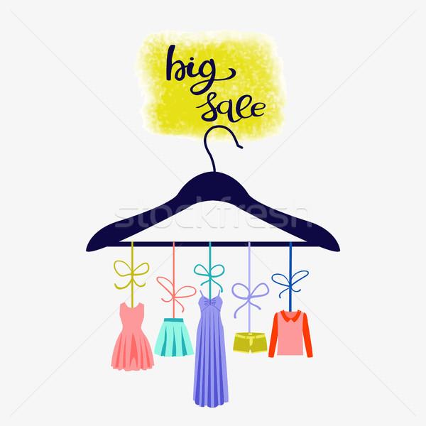 Moda boutique grande de vendas armazenar ilustração Foto stock © Margolana
